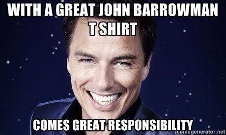 barrowman t shirt