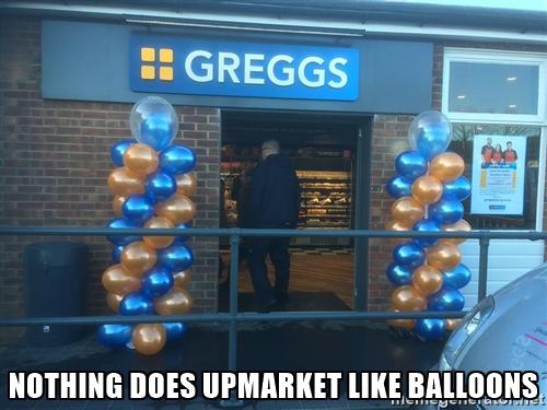 greggs ballons