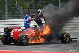 f1 crash and burn